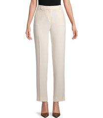 the kooples women's flat-front straight trousers - navy - size 42 (8)