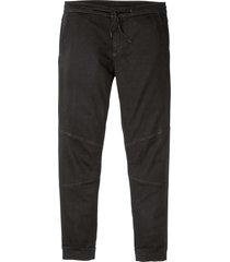 pantaloni in twill felpato con elastico in vita slim fit straight (nero) - rainbow