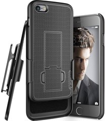iphone 7 belt clip case, encased (ultra thin) secure-fit cover w/ cliklock holst