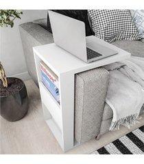mesa de apoio book com suporte branco - líder design