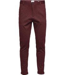 superflex knitted cropped pant kostymbyxor formella byxor röd lindbergh