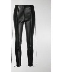 burberry zip-detail stretch crepe jersey leggings