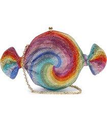 'candy swirl' crystal embellished clutch