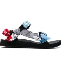 arizona love scarf-tied flat sandals - blue