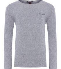 suéter masculino tricot - cinza