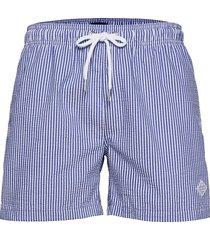 cf seersucker swim shorts badshorts blå gant