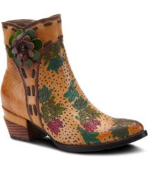 l'artiste women's canter western multiple tonal booties women's shoes