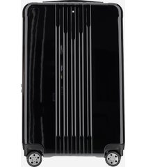 montblanc designer men's bags, black polycarbonate carry-on trolley