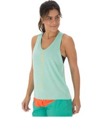 camiseta regata nike miler tank surf - feminina - aqua