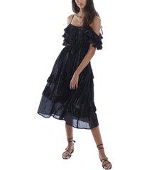 allison new york women's metallic stripe dress