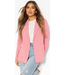petite oversized blazer, blush