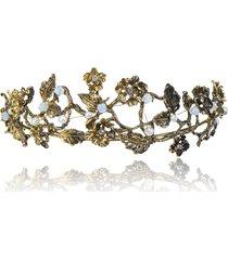 fermaglio per capelli con strass da cerimonia nuziale in strass per capelli con fascia barocca in oro antico vintage