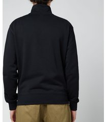 ami men's de coeur quarter zip sweatshirt - black - m