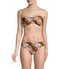 2-piece tiger-print bikini set