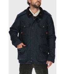 chaqueta algodón encerado rockford azul