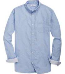 calvin klein light blue stripe sport shirt
