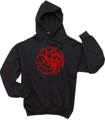 fire and blood targaryen sigil mother of dragons got unisex hoodie black