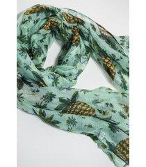 pashmina verde nuevas historias estampada ananás
