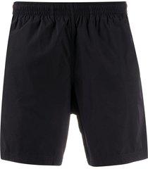 alexander mcqueen side tape swim shorts - black