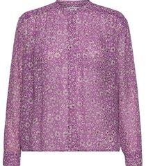 elmy shirt aop 9695 blus långärmad lila samsøe samsøe