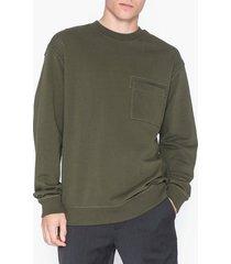 calvin klein jeans pckt crew neck tröjor oliv grön