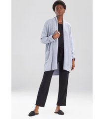 aura cardigan coat, women's, blue, size l, n natori