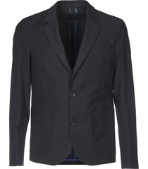 blue single-breasted jacket with two buttons