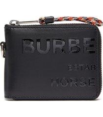 horseferry address print zip-around leather wallet