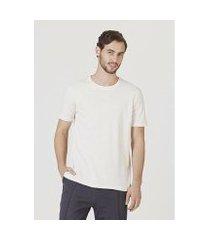 camiseta hering básica manga curta em malha sustentável reuse masculina