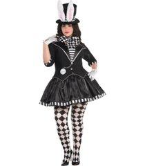 amscan dark mad hatter adult women's costume - plus size