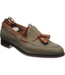 handmade men tweed shoes, tassel loafer shoes for men, men dress formal shoe