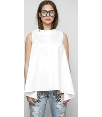 trapezowa bluzka danielle w bieli