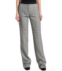 carl plaid stretch wool pants