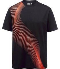 t-shirt men plus svart::orange