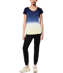 marc new york dip-dyed active t-shirt