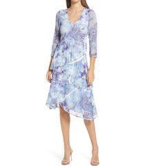 women's komarov floral tiered v-neck dress