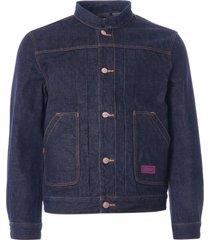c17 - cedixsept jeans mandarin collar kaihara japanese selvedge denim jacket | indigo | c17a2008-1159