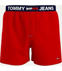 tommy hilfiger men's organic cotton boxer primary red - l