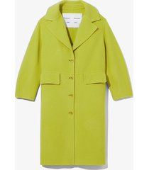 proenza schouler white label double face coat 00525 olive green xl