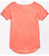 maurices womens 24/7 solid lunar drop shoulder classic tee orange