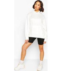 basic oversized hoodie, white