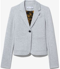 proenza schouler white label jersey suiting blazer grey melange xl