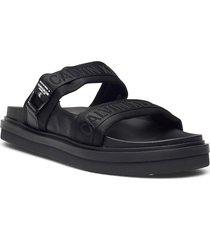 flat sandal twostraps pes shoes summer shoes sandals svart calvin klein