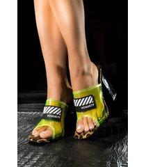 akira cape robbin bubbles and bubbly funky neon chunky heel sandal