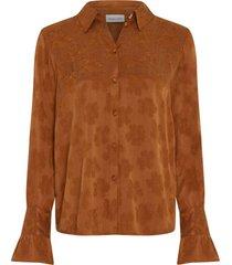 fabienne chapot philia tess blouse cognac cupro damast