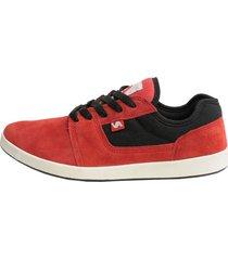 zapatilla roja vuela alto limited skate tigers