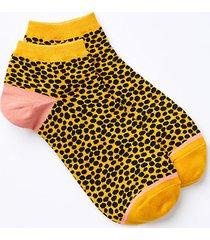 loft leopard print ankle socks