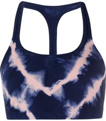 electric & rose top esportivo tie-dye - azul