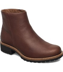 elaine shoes boots ankle boots ankle boot - flat brun ecco