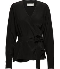 nicole blouse lange mouwen zwart fall winter spring summer